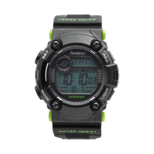 Armitron Watch - Men's Black Digital Chronograph