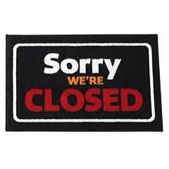 FANMATS 'Sorry We're Closed' Rug