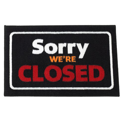 "FANMATS ""Sorry We're Closed"" Rug"