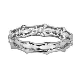 Stacks and Stones Sterling Silver Fleur-de-Lis Stack Ring
