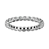 Stacks & Stones Sterling Silver 1/3-ct. T.W. Diamond Eternity Stack Ring