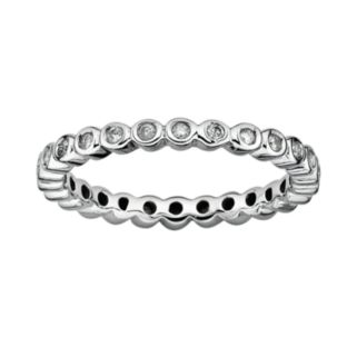 Stacks and Stones Sterling Silver 1/3-ct. T.W. Diamond Eternity Stack Ring