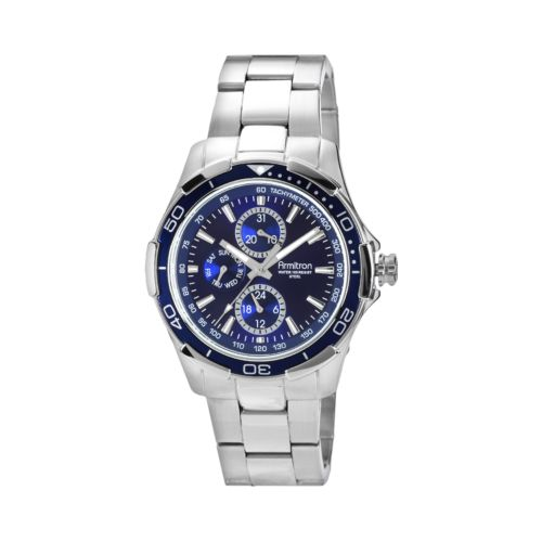 Armitron Stainless Steel Watch - 20/4677BLSV - Men