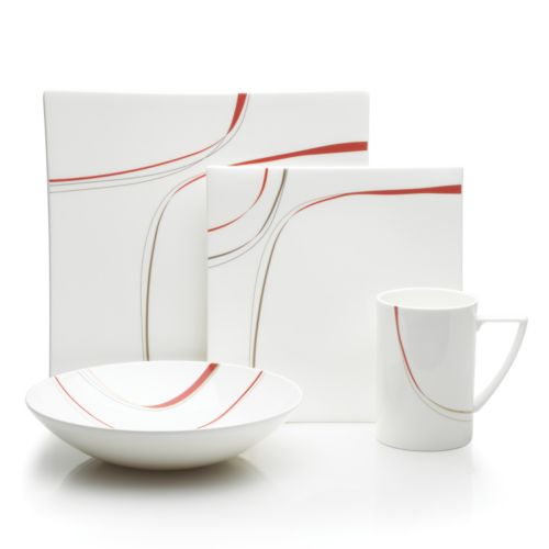Mikasa Modernist Red 4-pc. Place Setting