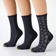 SONOMA life + style 3-pk. Scroll and Vertical Lines Crew Socks