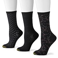 GOLDTOE 3-pk. Floral Scroll Crew Socks