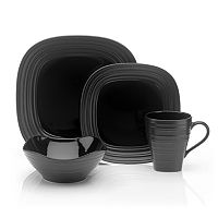 Mikasa Swirl Black 4-pc. Square Place Setting