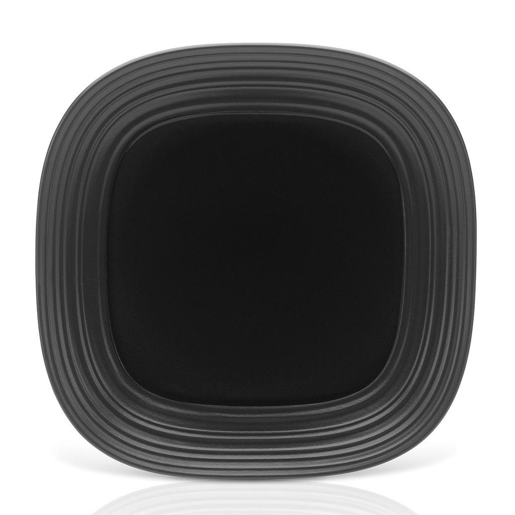 Mikasa Swirl Black Square Platter