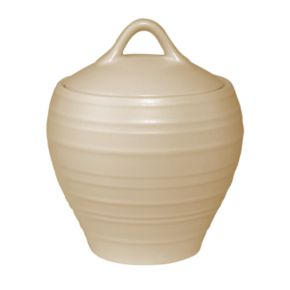 Mikasa Swirl Tan Covered Sugar Bowl