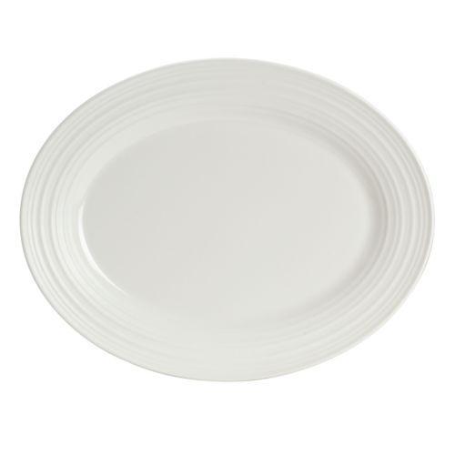 Mikasa Swirl White Oval Platter