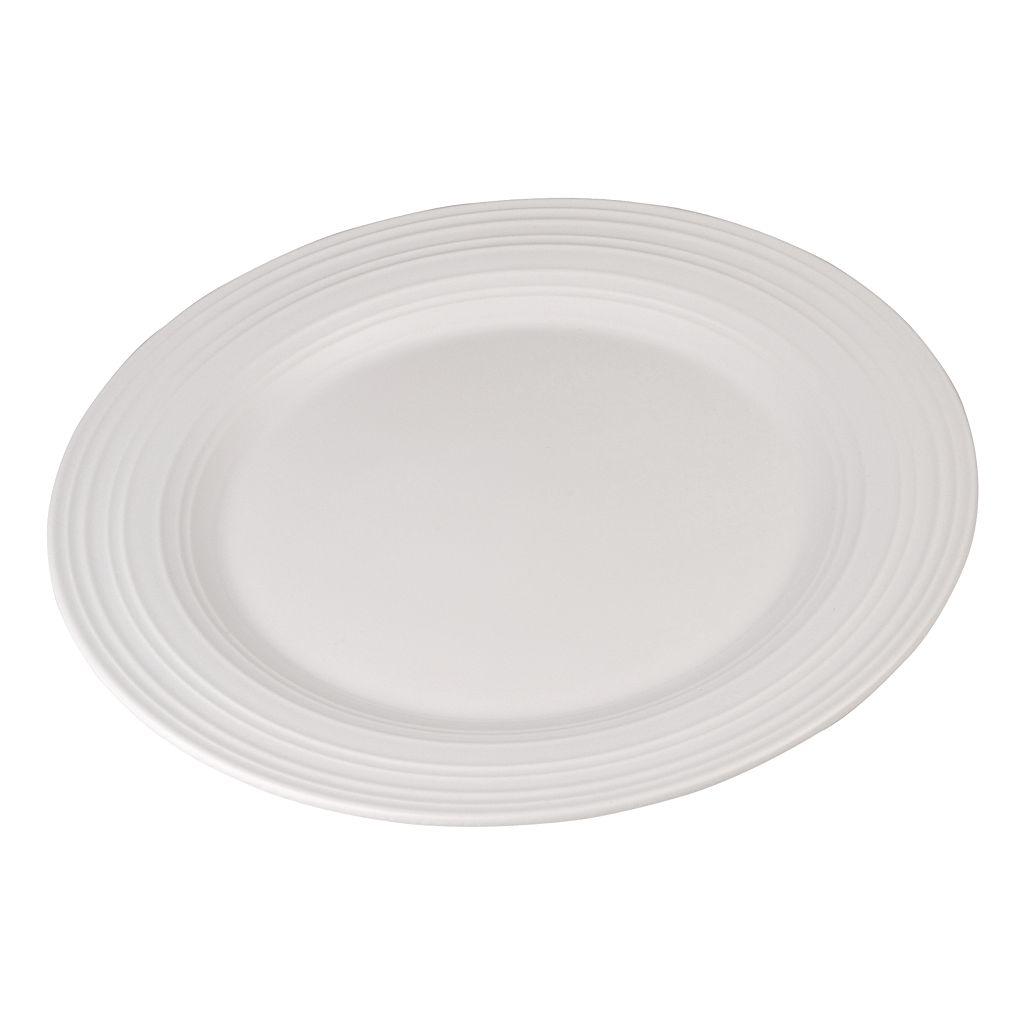 Mikasa Swirl White Chop Plate