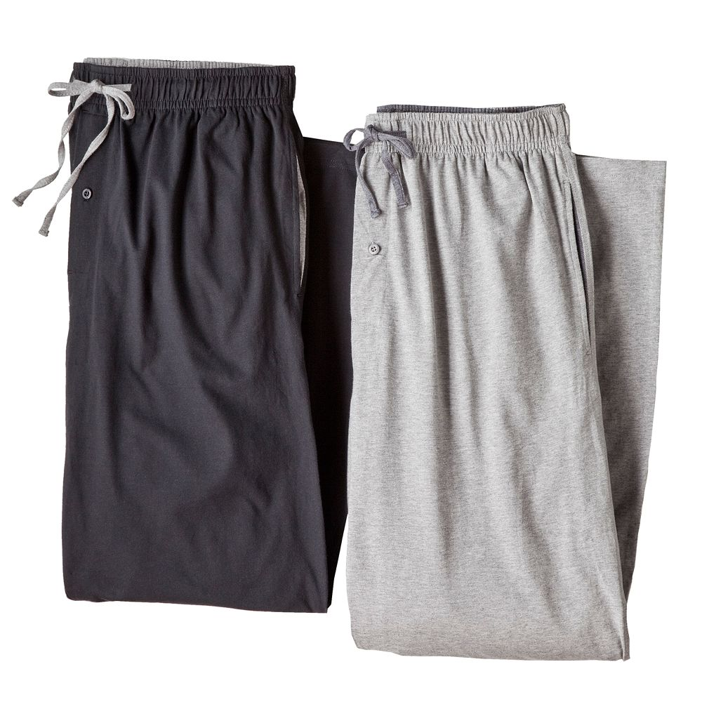 Men's Hanes 2-pk. Solid Sleep Pants