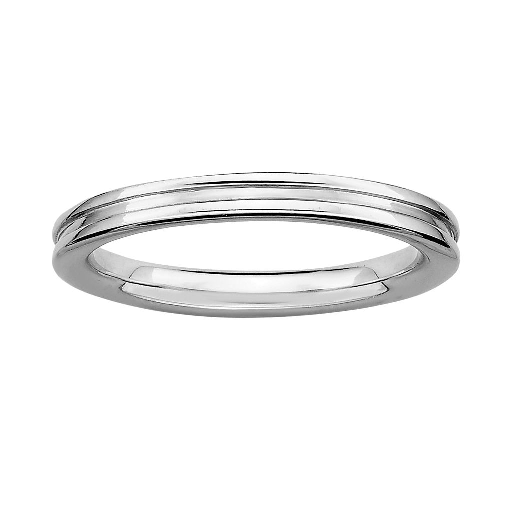 Stacks & Stones Sterling Silver Grooved Stack Ring