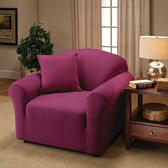 Jersey Stretch Chair Slipcover With Pillow