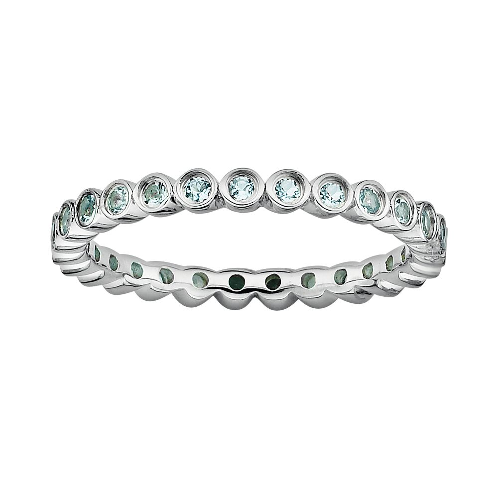 Stacks & Stones Sterling Silver Aquamarine Stack Ring