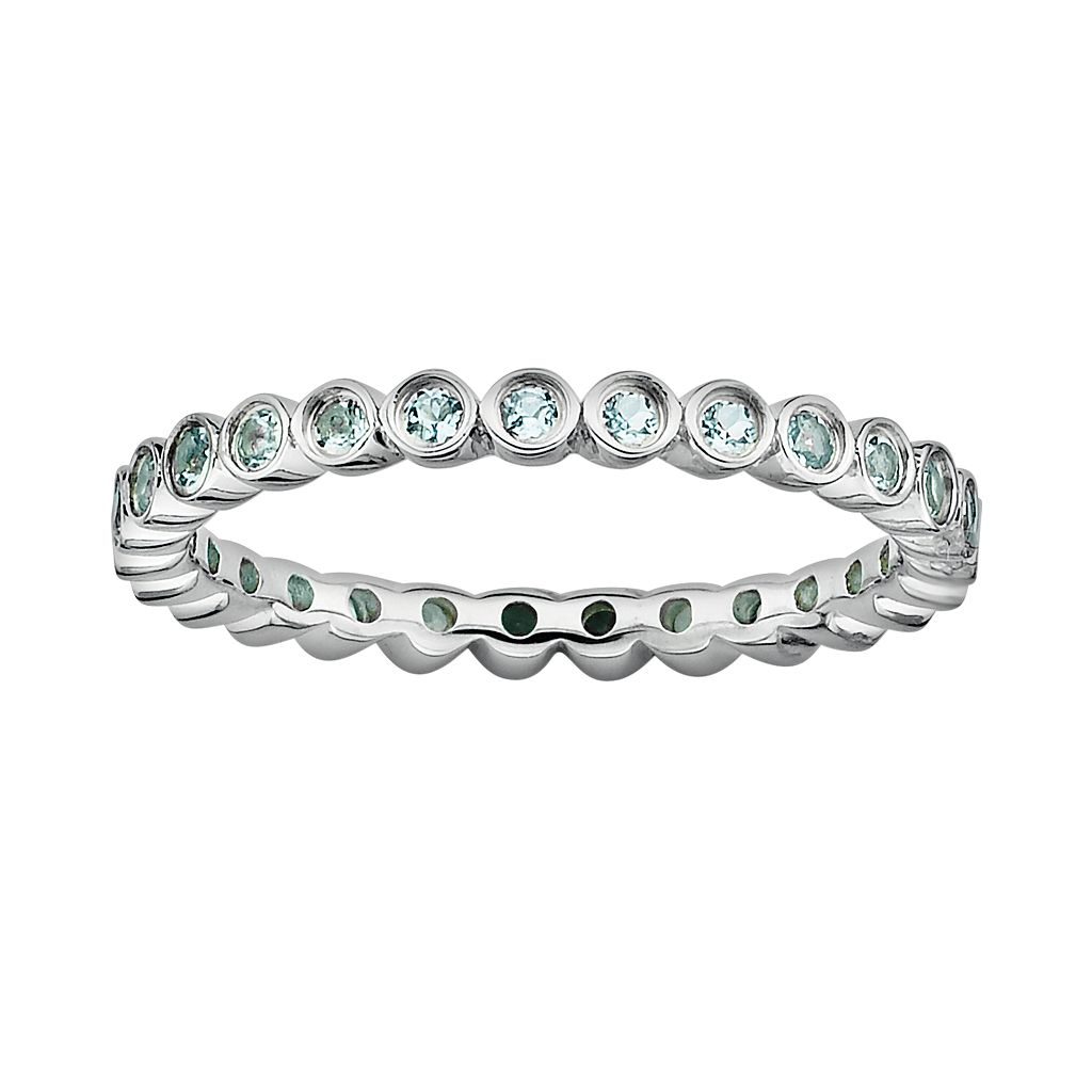 Stacks & Stones Sterling Silver Aquamarine Stack Ring