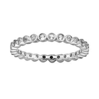 Stacks and Stones Sterling Silver White Topaz Stack Ring