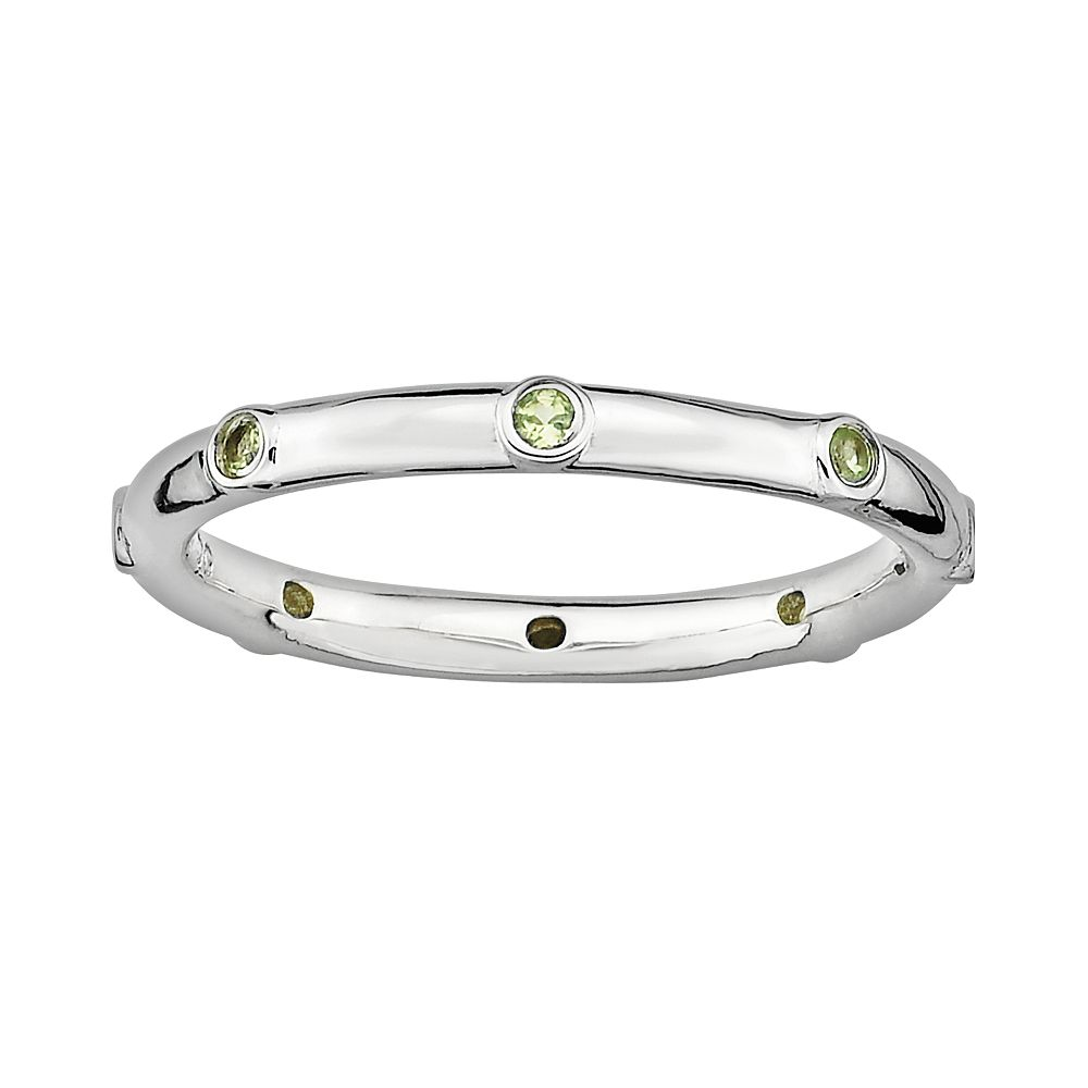 Stacks & Stones Sterling Silver Peridot Stack Ring