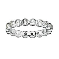 Stacks & Stones Sterling Silver White Topaz Stack Ring