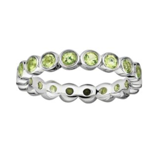 Stacks and Stones Sterling Silver Peridot Stack Ring