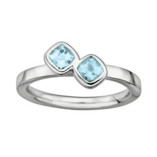 Stacks and Stones Sterling Silver Aquamarine Stack Ring