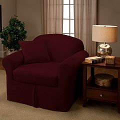 Madison Stretch Faux-Suede Chair Slipcover