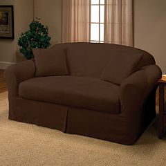 Madison Faux-Suede Loveseat 2 pc Slipcover