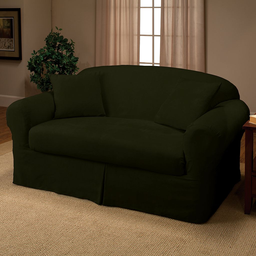Madison Faux-Suede Loveseat 2-pc. Slipcover