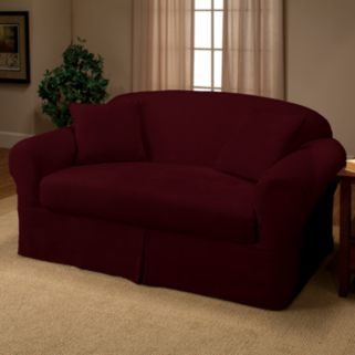 Madison Faux-Suede 2-pc. Loveseat Slipcover