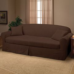 Madison Faux-Suede 2 pc Sofa Slipcover