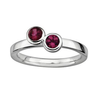 Stacks and Stones Sterling Silver Rhodolite Garnet Stack Ring