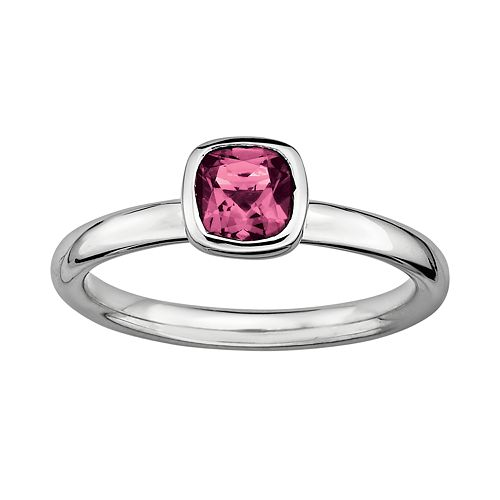 Stacks & Stones Sterling Silver Pink Tourmaline Stack Ring