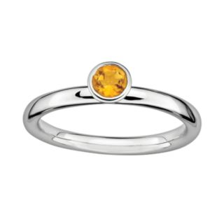 Stacks and Stones Sterling Silver Citrine Stack Ring