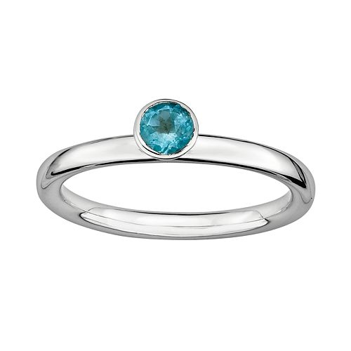 Stacks & Stones Sterling Silver Blue Topaz Stack Ring