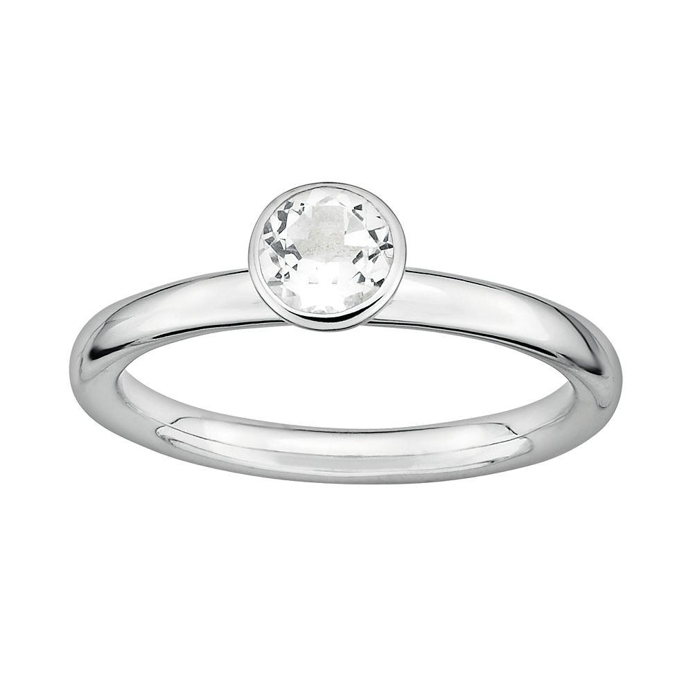 Stacks & Stones Sterling Silver White Topaz Stack Ring