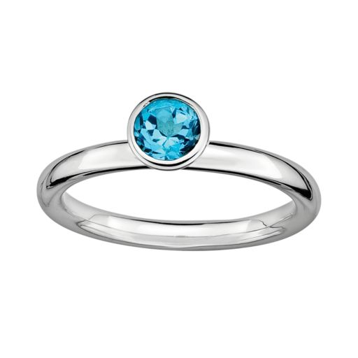 Stacks and Stones Sterling Silver Blue Topaz Stack Ring
