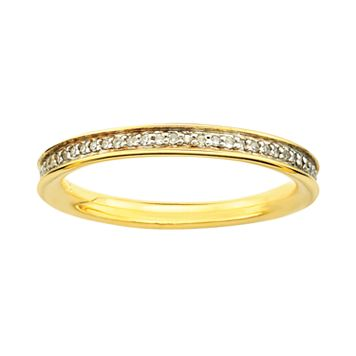 Stacks & Stones 18k Gold Over Silver 1/5-ct. T.W. Diamond Stack Ring