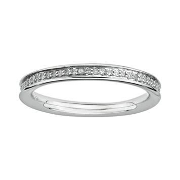Stacks & Stones Sterling Silver 1/5-ct. T.W. Diamond Stack Ring