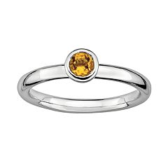 Stacks & Stones Sterling Sterling Silver Citrine Stack Ring