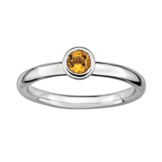 Stacks and Stones Sterling Sterling Silver Citrine Stack Ring
