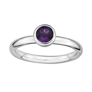 Stacks and Stones Sterling Sterling Silver Amethyst Stack Ring