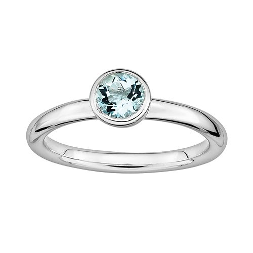 Stacks & Stones Sterling Sterling Silver Aquamarine Stack Ring