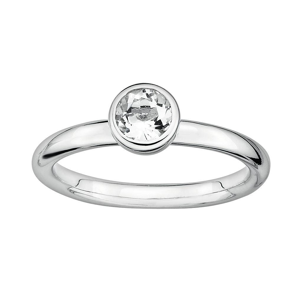 Stacks & Stones Sterling Sterling Silver White Topaz Stack Ring
