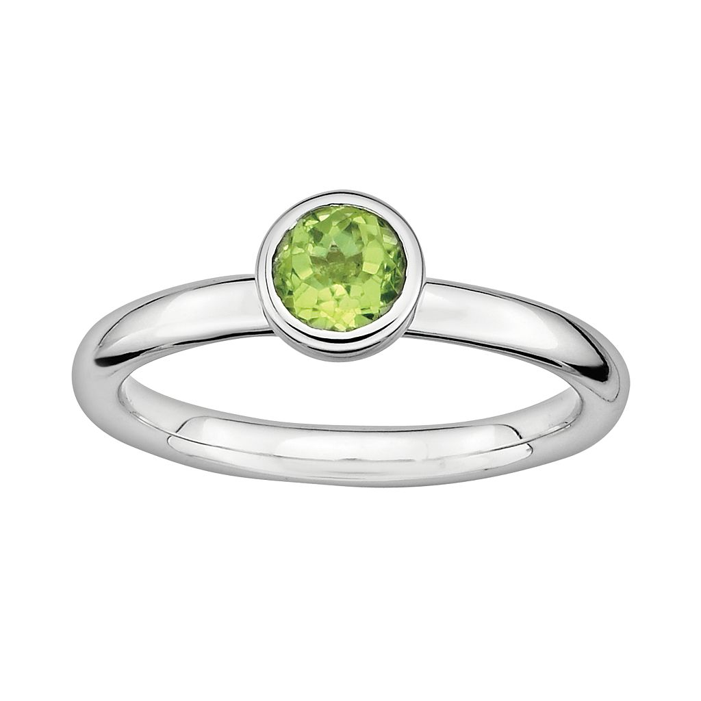 Stacks & Stones Sterling Sterling Silver Peridot Stack Ring