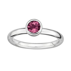 Stacks and Stones Sterling Sterling Silver Pink Tourmaline Stack Ring
