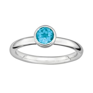 Stacks and Stones Sterling Sterling Silver Blue Topaz Stack Ring
