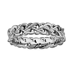 Stacks & Stones Sterling Silver Intertwined Heart Stack Ring