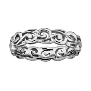 Stacks and Stones Sterling Silver Scroll Stack Ring