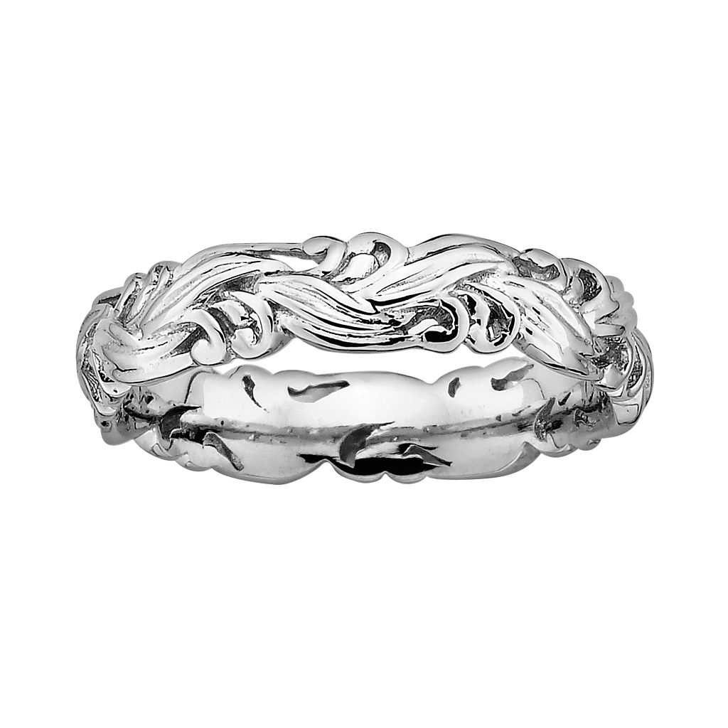 Stacks & Stones Sterling Silver Scroll Stack Ring