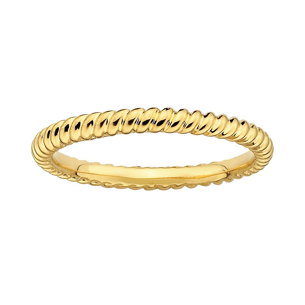Stacks & Stones 18k Gold Over Silver Twist Stack Ring